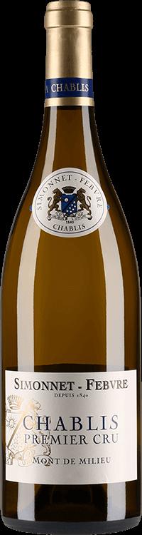 """Simonnet-Febvre : Chablis 1er cru """"Mont de Milieu"""" 2015"""