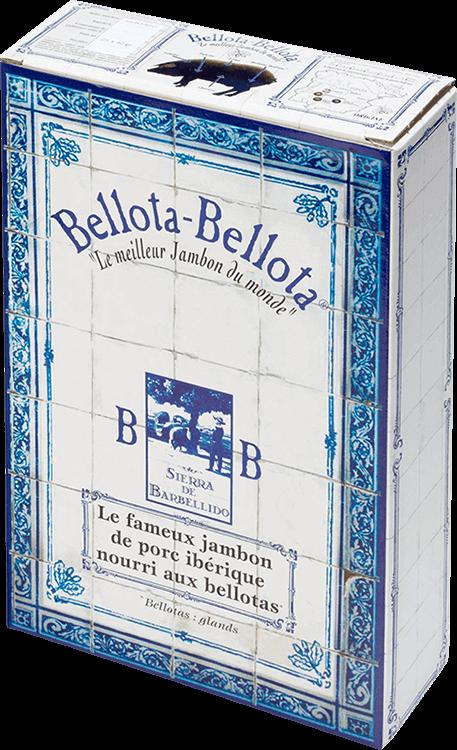 Lingot Jambon Ibérique Bellota-Bellota® Dehesa de Extremadura Grand Cru tranché au couteau 100% Bellota - 25 plaquettes 40gr.