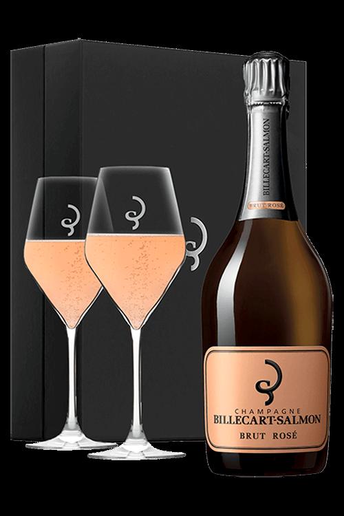 Billecart-Salmon : Coffret Saint-Valentin et 2 Verres