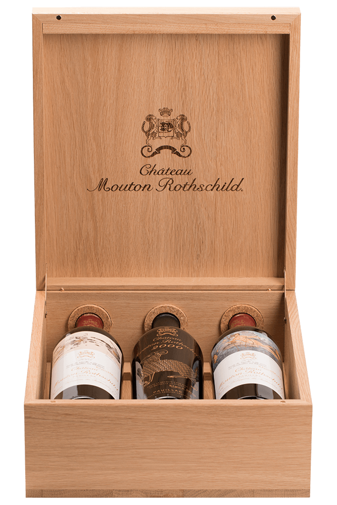 Caisse Luxe Chêne Mouton Rothschild 2000-2005-2010