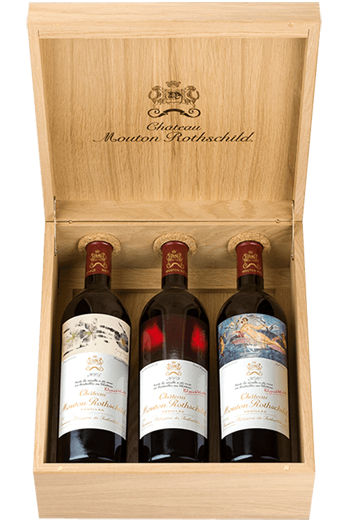Caisse Luxe Chêne Mouton Rothschild 2005-2009-2010