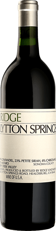 Ridge Vineyards : Lytton Springs Zinfandel 2018