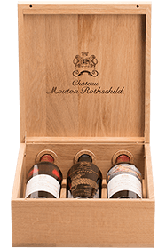 Caisse Luxe Chêne Mouton Rothschild 2000-2009-2010