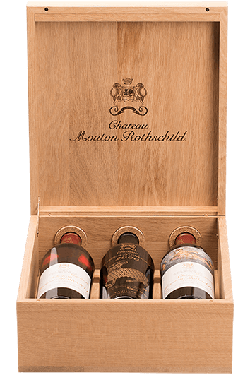 Caisse Luxe Chene Mouton Rothschild 2000-2009-2010