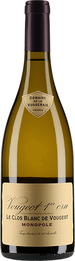 """""""Domaine de la Vougeraie : Vougeot 1er cru """"""""Le Clos Blanc de Vougeot"""""""" Monopole 2018"""""""
