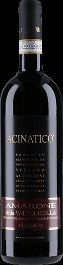"""Stefano Accordini : Amarone Della Valpolicella Classico """"Acinatico"""" 2016"""