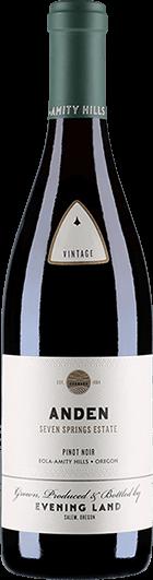 Evening Land Vineyards : Seven Springs Anden Pinot Noir White Label 2017