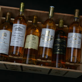 Sauternes 1ers crus classes tasting case 2001