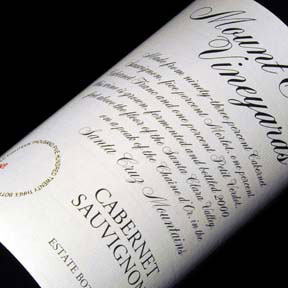 Mount Eden Vineyards : Estate Cabernet Sauvignon 2012 - 0