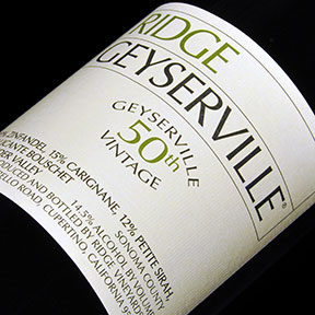 Ridge Vineyards : Geyserville 2015 - 1