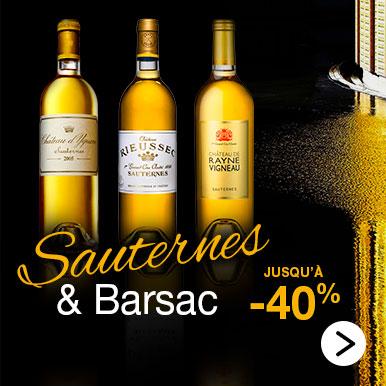 Grands vins de Sauternes et de Barsac jusqu'à 40% de remise
