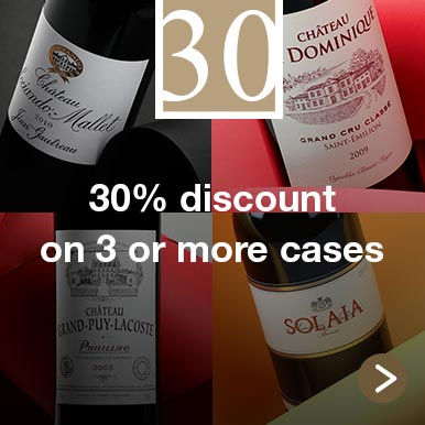30% discount on 3 or more cases