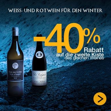 Weiß- und Rotwein für den Winter