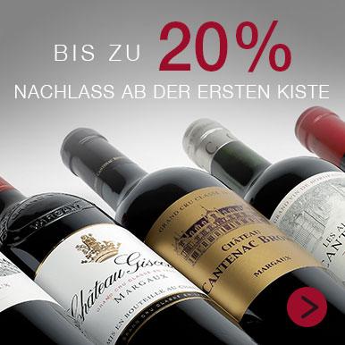 Bis zu -20% auf unsere Bordeaux Auswahl