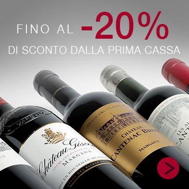 Fino al 20% di sconto sui vini di Bordeaux!