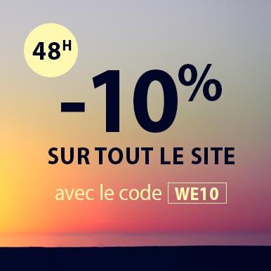 -10% sur tout le site avec le code WE10