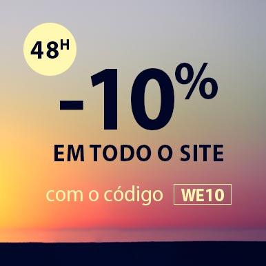 -10% em todo o site com o código WE10
