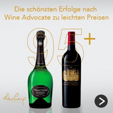 Die schönsten Erfolge nach Wine Advocate zu leichten Preisen