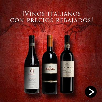 vinos italianos con precios rebajados