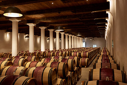 The Château Margaux cellar in the Margaux appellation