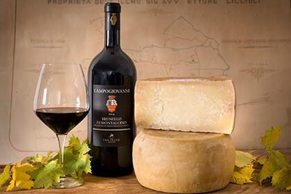 Dégustation Brunello di Montalcino - vin rouge - Toscane - Italie