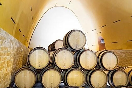 Domaine Leflaive egg-shaped barrel room