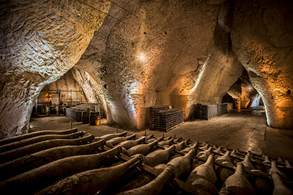Die Weinkeller von Veuve Clicquot