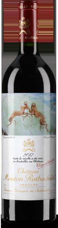 Etiquette Château Mouton Rothschild 2012