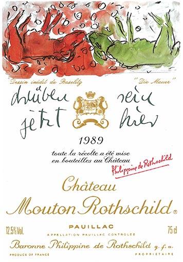 Etiquette Château Mouton Rothschild 1989