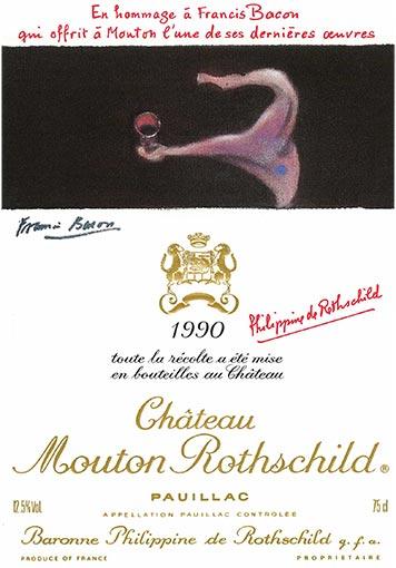 Etiquette Château Mouton Rothschild 1990