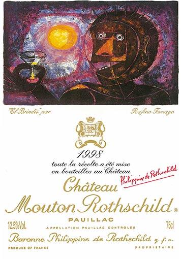 Etiquette Château Mouton Rothschild 1998