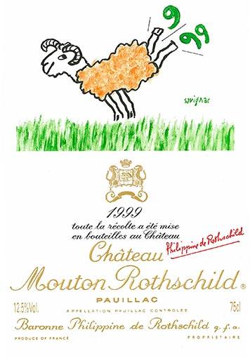 Etiquette Château Mouton Rothschild 1999