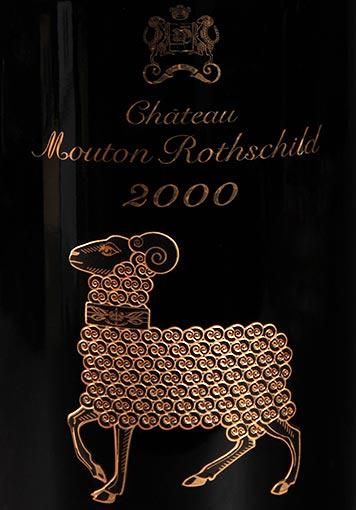 Etiquette Château Mouton Rothschild 2000