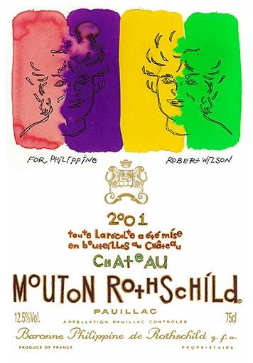 Etiquette Château Mouton Rothschild 2001