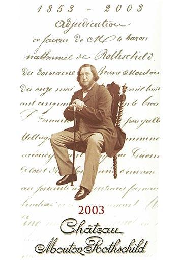 Etiquette Château Mouton Rothschild 2003