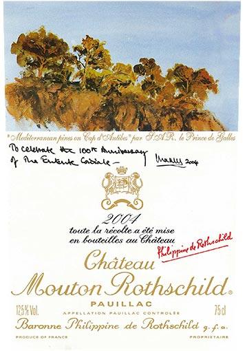 Etiquette Château Mouton Rothschild 2004