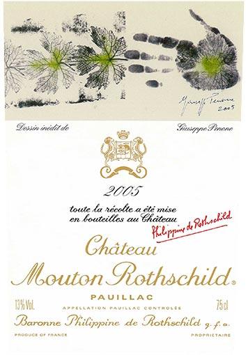 Etiquette Château Mouton Rothschild 2005