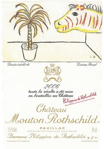 Etiquette Château Mouton Rothschild 2006