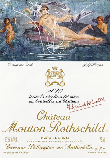 Etiquette Château Mouton Rothschild 2010