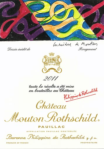 Etiquette Château Mouton Rothschild 2011