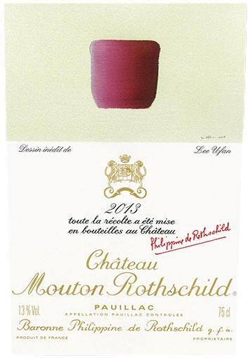 Etiquette Château Mouton Rothschild 2013