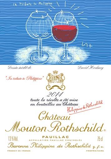 Etiquette Château Mouton Rothschild 2014
