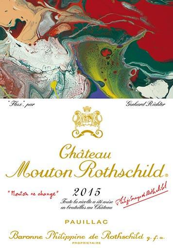Etiquette Château Mouton Rothschild 2015