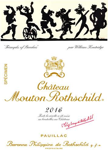 Etiquette Château Mouton Rothschild 2016