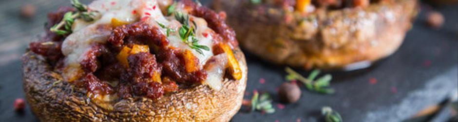 champignons-végétariens-vin