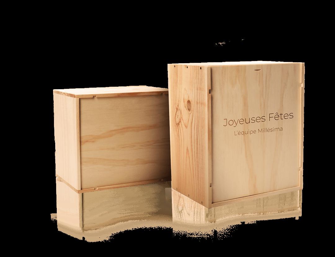 caisses bois vin gravées personnalisées