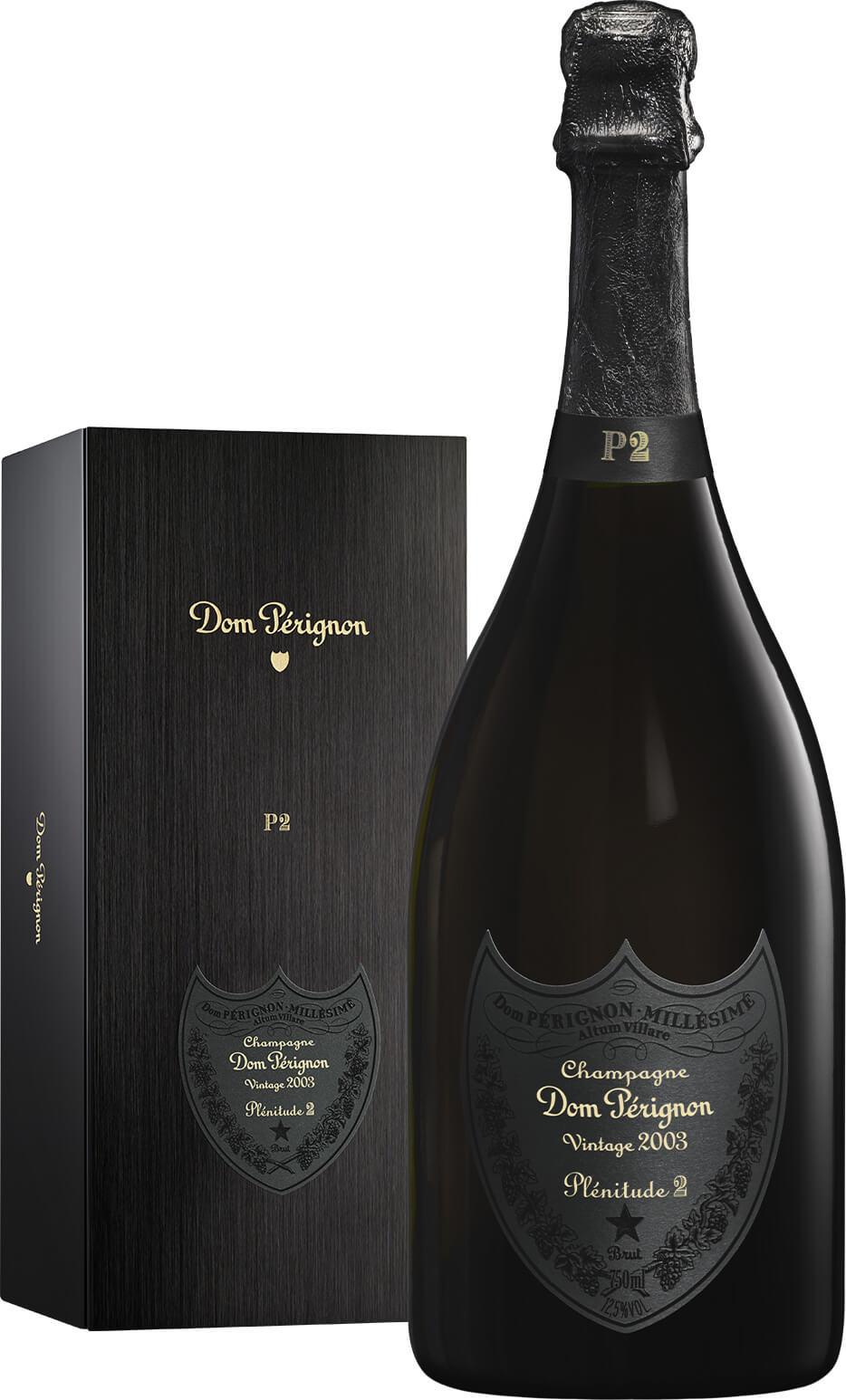 Champagne Dom Pérignon Vintage 2003 Plénitude 2 et son coffret