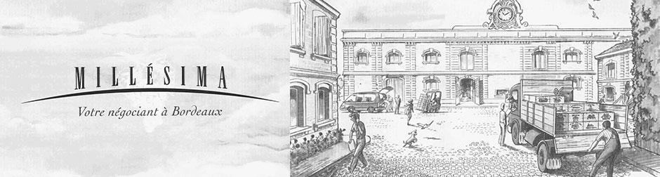 Illustration gravure les chais de Millésima