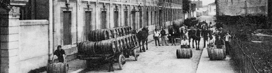 Les chais dans les années 1900