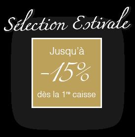Sélection estivale jusqu'à –15% dès la première caisse